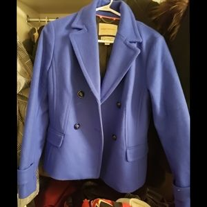 Royal Blue Banana Republic Wool Peacoat Size M